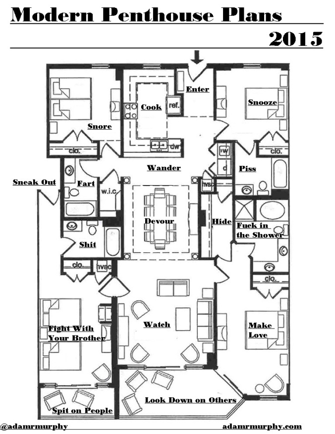 Modern Penthouse Plans